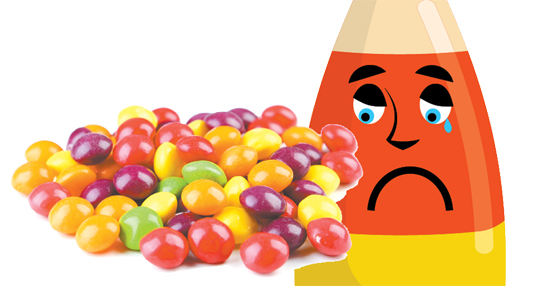 What's your favorite candy, Skittles? How did we know? Eh, lucky guess