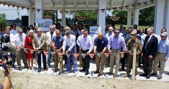 Pavilions at Centennial Park dedicated