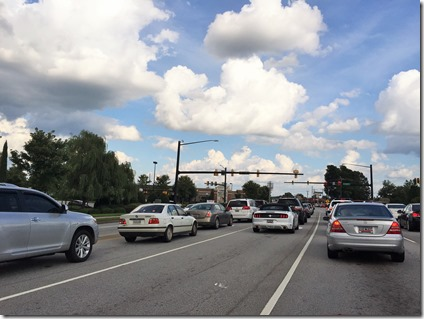 To help manage traffic along Woodruff Road for the holiday season, the city of Greenville is implementing some changes to traffic patterns from Market Point to Verdae Boulevard. (Photo by Matt Clark)