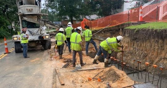 Harrison Road sidewalk project progressing