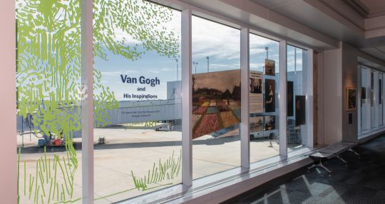 CAE passengers can view Van Gogh mini exhibition