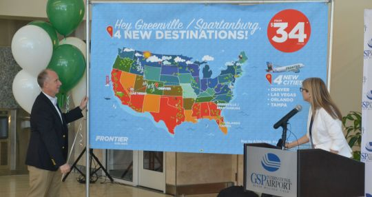 Frontier Airlines to fly out of GSP with new nonstop flights