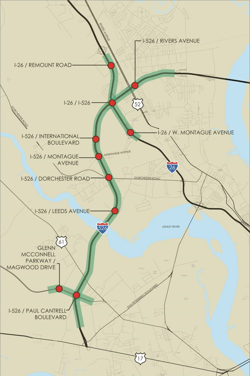 Improvements Planned For Congested Section Of I 526 Sc