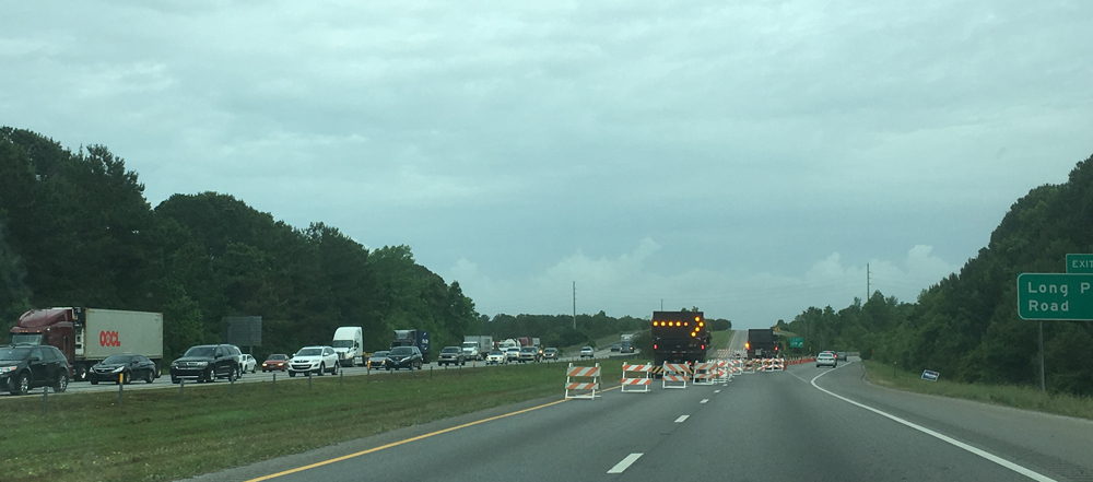 Westbound traffic on Interstate 526 in Mount Pleasant is being rerouted onto Long Point Road while assessments are made to the James B. Edwards Bridge over the Wando River. (Photo/Ryan Wilcox)