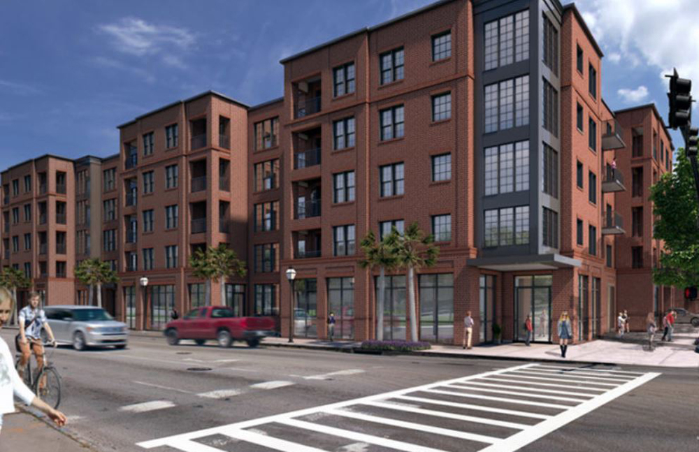 A five-story student housing project is under construction at 530 Meeting St. in Charleston. (Rendering/Provided by Spandrel Development)