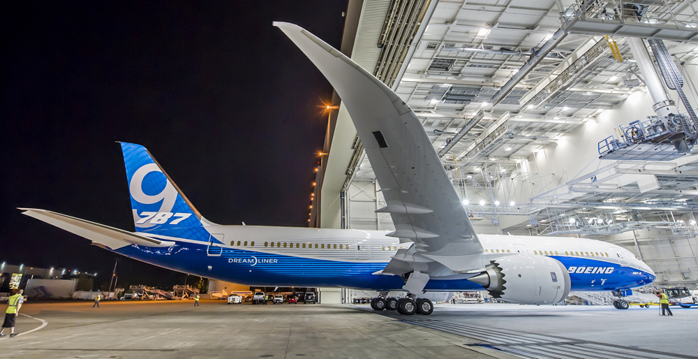 Not the Dreamliner in question, but definitely a 787, for reference. (Photo/Boeing)