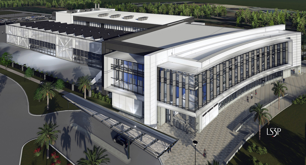 The S.C. Aeronautical Training Center, to be built at Trident Technical College's Rivers Avenue campus, is expected  to open in 2019. (Rendering/Provided)