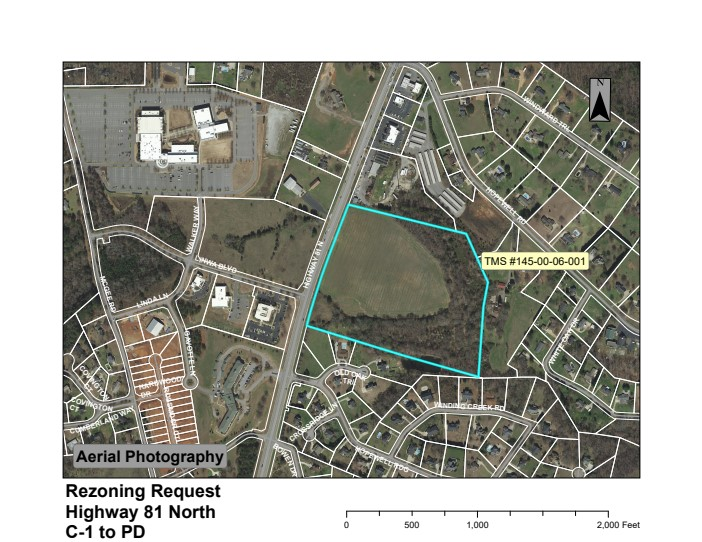 Map showing location of Ben Chase's proposed 29-acre planned development. (Photo/Provided)