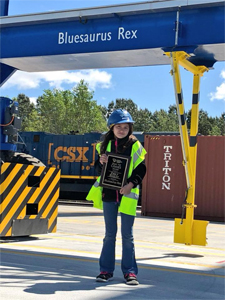 Emily Baxley named Bluesaurus Rex. (Photo/S.C. Ports Authority)