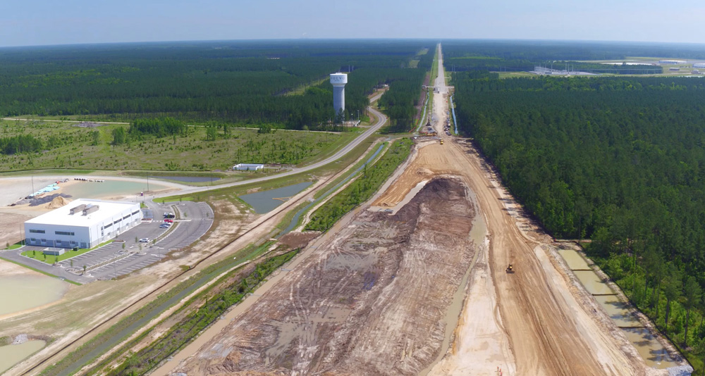 Infrastructure is underway at the Camp Hall site off Interstate 26 in Berkeley County. (Photo/Provided)