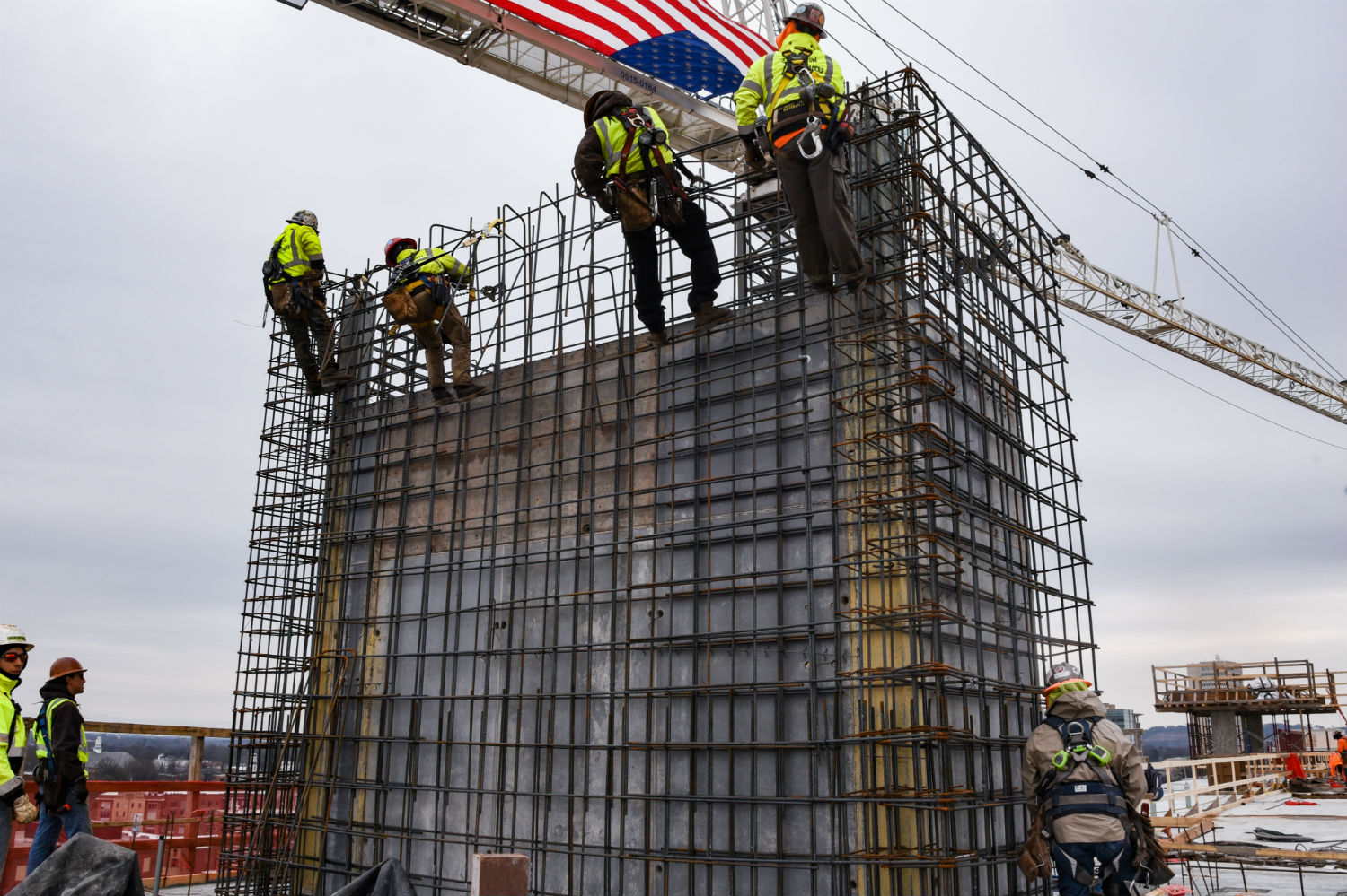 The residential component of the Camperdown development in downtown Greenville was topped out this month. (Photot/Provided)