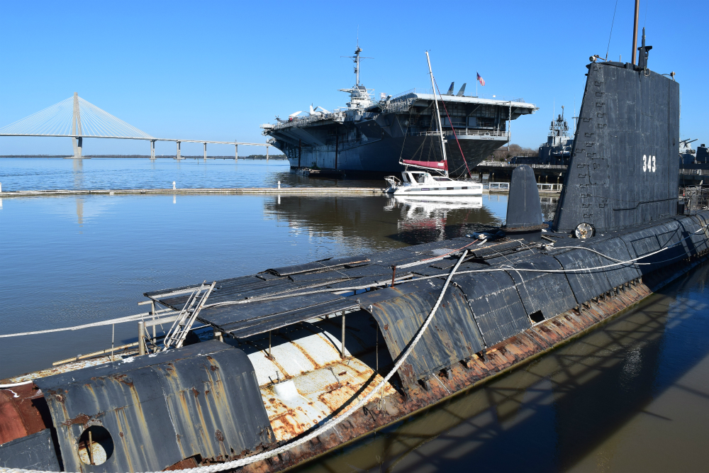The 320-foot USS Clamagore submarine is one of three vessels at Patriots Point in Mount Pleasant. (Photo/Ashley Heffernan)