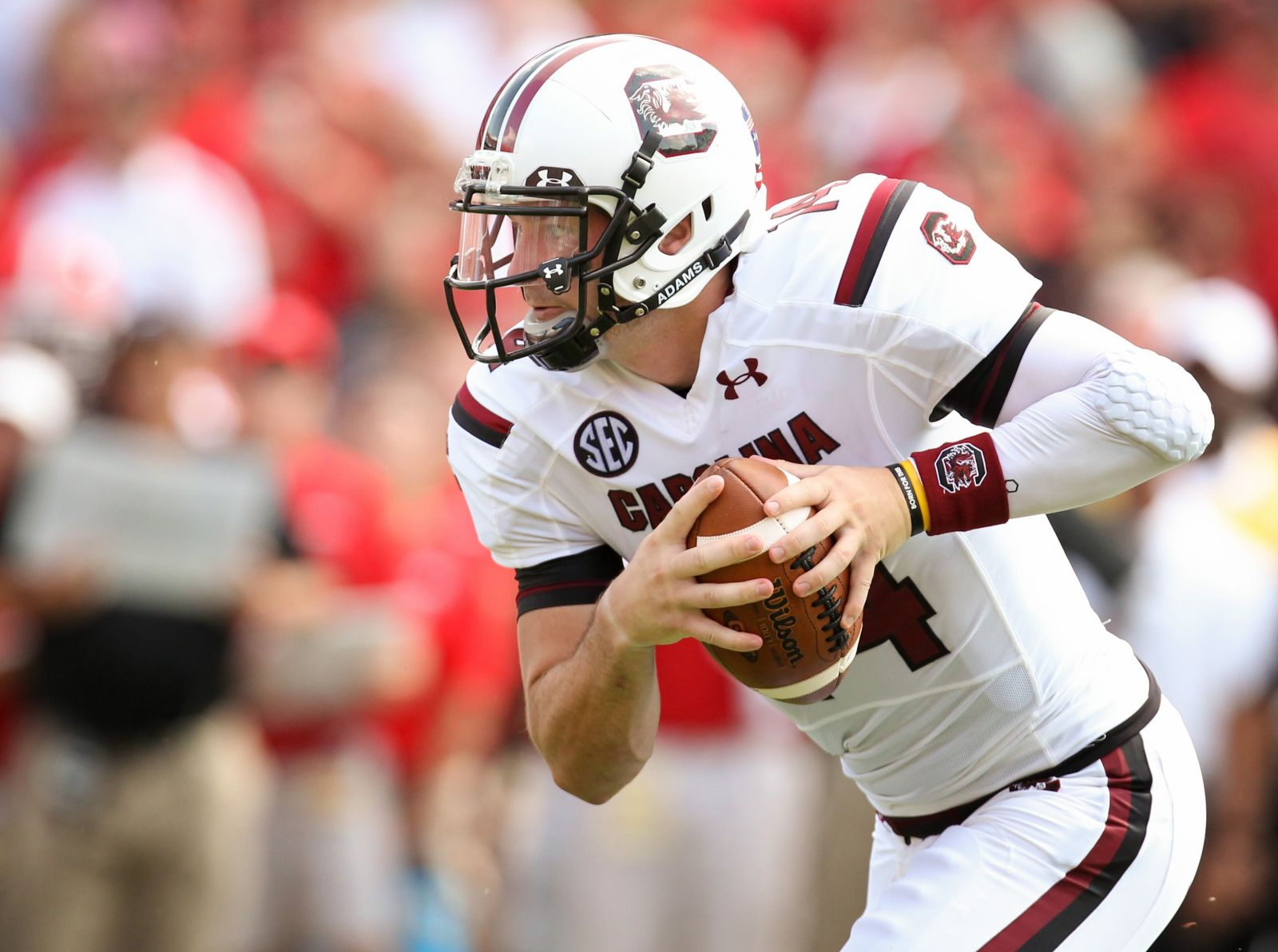 Connor Shaw won 27 games at USC's quarterback and is the Gamecocks' all-time leader in career completion percentage at 65.5% (Photo/South Carolina Athletics)
