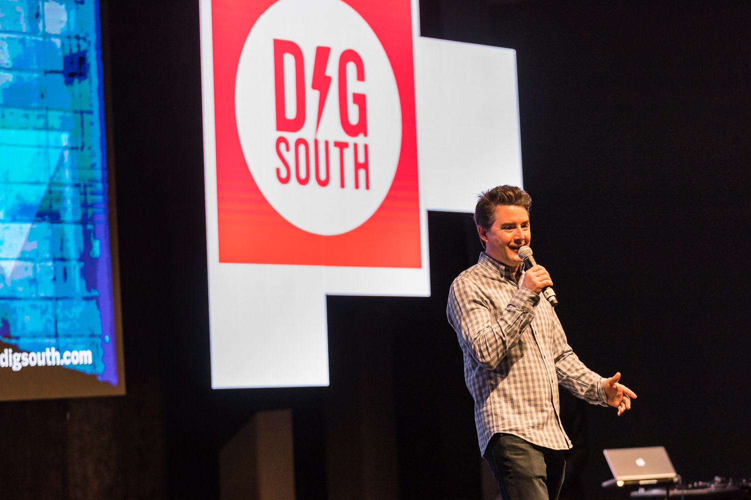 Dig South Founder Stanfield Gray said the tech conference fosters connections between entrepreneurs, founders and investors. (Photo/Adam Chandler)