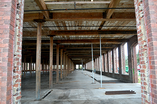 The first floor of the Garco building will house a food hall and commercial tenants once the space opens in 2020. (Photo/Liz Segrist)