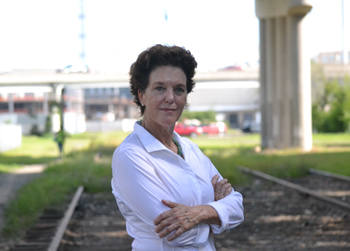 Ginny Deerin is heading the effort to raise funding to buy the right of way to the land for the Low Line from Norfolk Southern. (Photo/Liz Segrist)