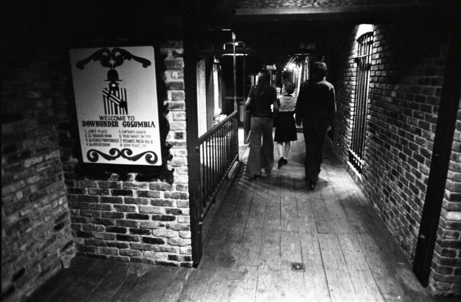 Columbia Down Under, a subterranean network of bars and restaurants, operated in the basement of the Arcade Mall building from 1972-1977. (Photo/Provided)