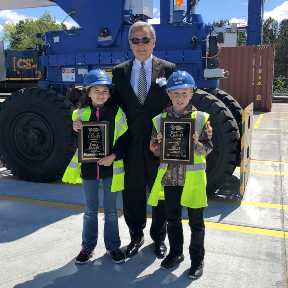 THe kids got to meet S.C. Ports Authority President and CEO Jim Newsome. (Photo/S.C. Ports Authority)