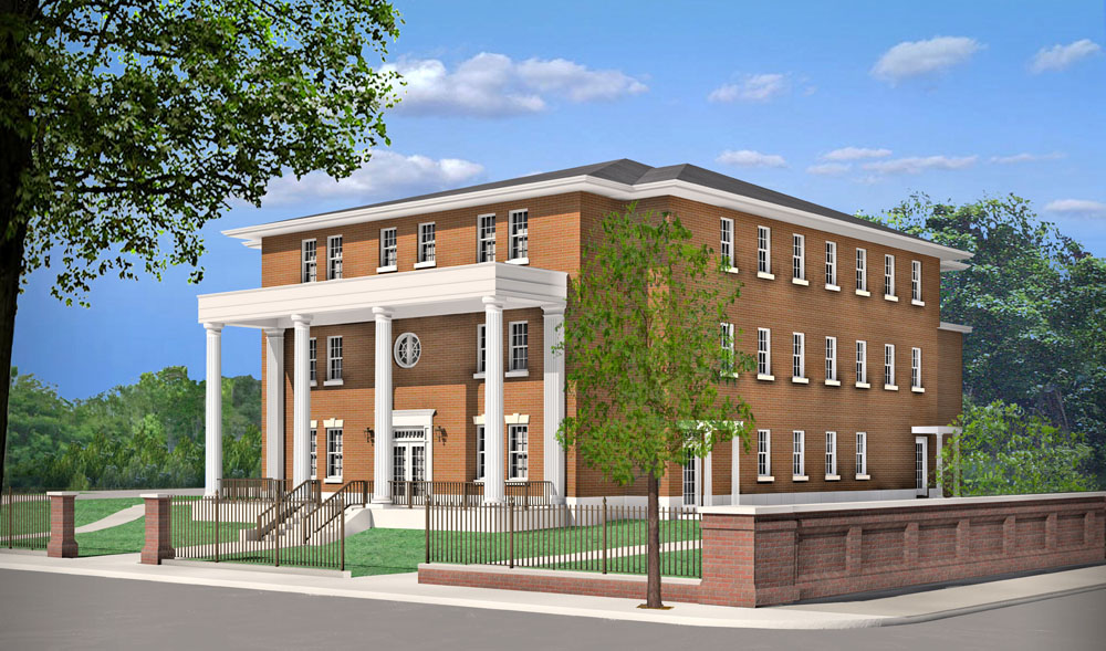 The 14,000-square-foot Fisher House in Charleston will be the first three-story building built by the Fisher House Foundation. (Rendering/Provided)