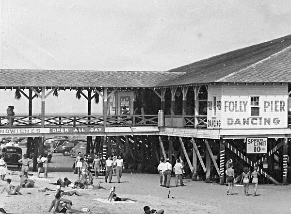 Avocet Hospitality Group plans to open Pier 101 in the former Locklear's Beach City Grill on Folly Beach Pier in March. The design team is using this 1950s-era photo as inspiration for renovating the space. (Photo/Provided)