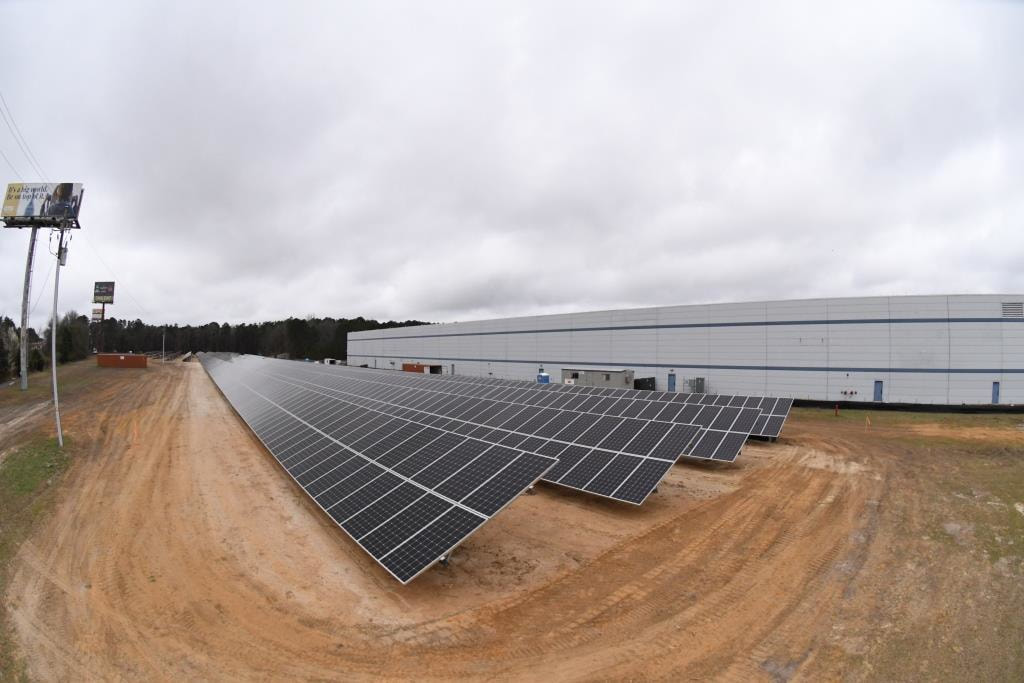 Hannah Solar Government Services constructed a 1.2 megawatt solar array for Otis Elevator Co. in Florence. (Photo/Provided)