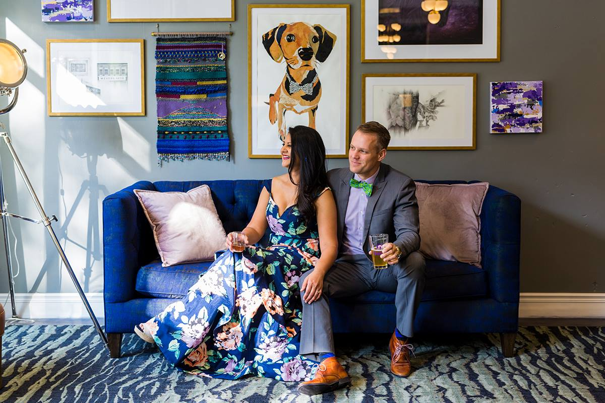 Hotel Trundle co-owners Rita Patel and Marcus Munse in the lobby of the Taylor Street boutique hotel. (Photo/Provided)