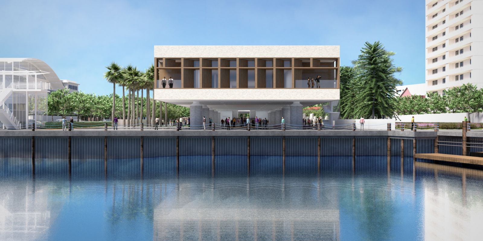 Five national and international foundations have provided a total of $1 million for the International African American Museum, which is planning to break ground on the former site of Gadsden's Wharf next year. (Rendering/Provided)