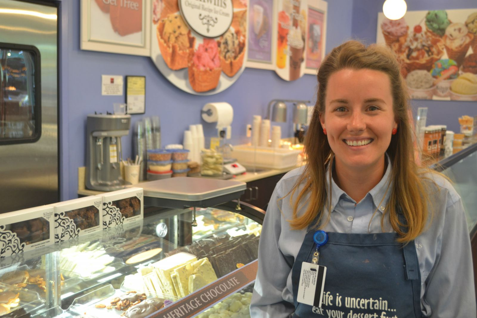 Ashley Clark, co-owner of Kilwins Chocolates, Fudge and Ice Cream at NOMA Square in Greenville, was named the 2018 South Carolina Young Entrepreneur of the Year. (Photo/Teresa Cutlip)