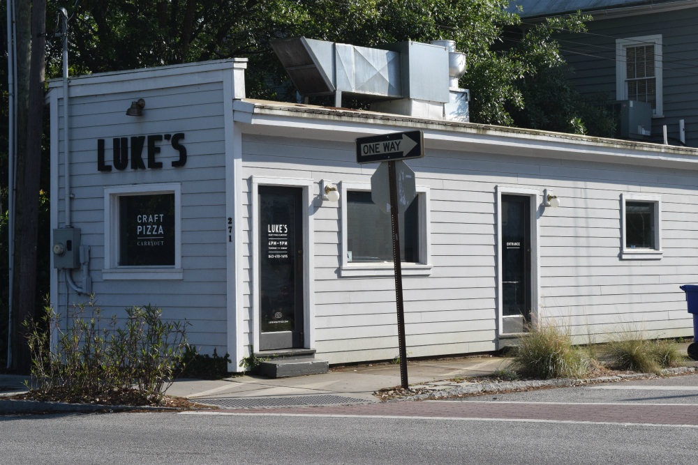 Luke's Craft Pizza on Ashley Avenue will close on May 18 after three years in business. Owner Luke Davis said the closure is personal, not related to any problems with the business. (Photo/Patrick Hoff)