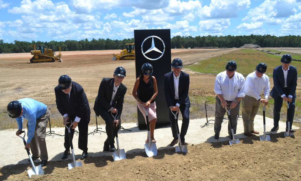 mercedes benz vans breaks ground on 500m automotive campus in north charleston sc biz news. Black Bedroom Furniture Sets. Home Design Ideas