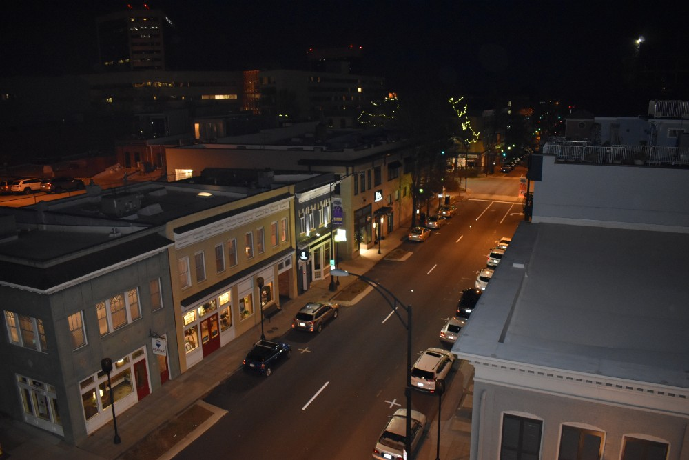 Downtown Greenville before the first COVID-19 case was announced in the Upstate. (Photo/Molly Hulsey)