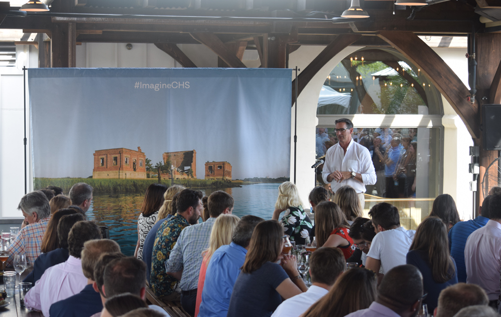 Mark Toro, managing partner of North American Properties, spoke during a community meeting about the Lorelei project in late June 2016. (Photo/File)