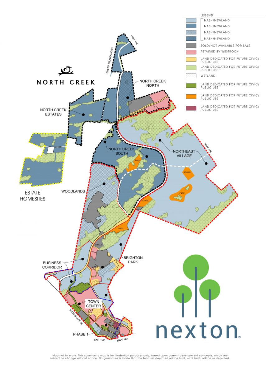 Click for larger version of Nexton map.