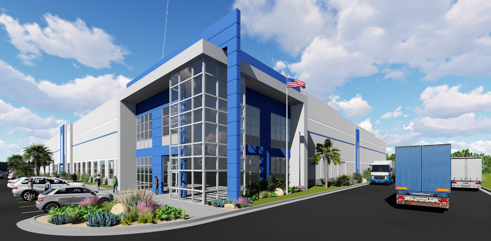 North Pointe Commerce Park will comprise two industrial buildings totaling 400,000 square feet of Class A space. (Rendering/Provided)