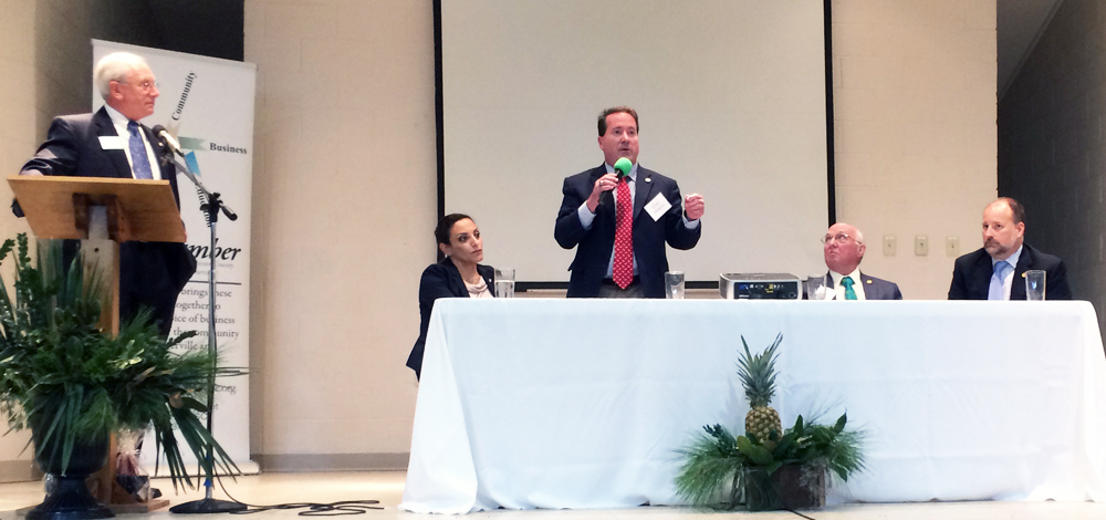 Rep. Chris Murphy, R-North Charleston, talks about the upcoming legislative session during the Greater Summerville/Dorchester County Chamber of Commerce Legislative Luncheon on Tuesday in Summerville. (Photo/Andy Owens)