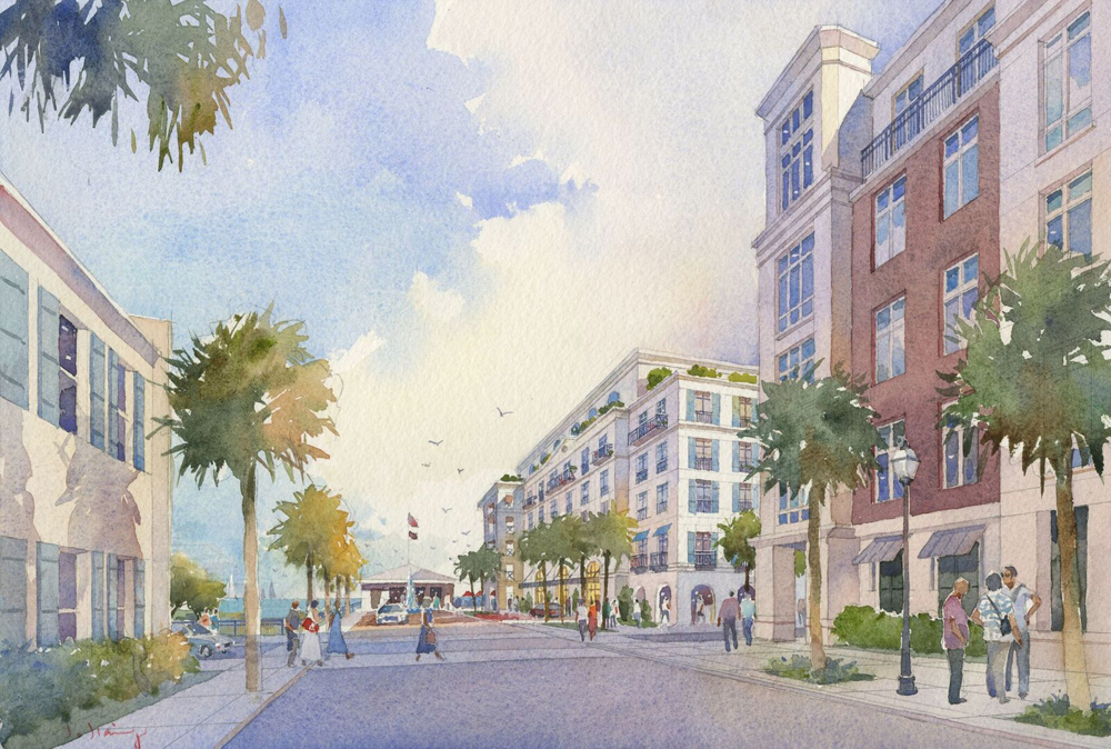 The proposed new view down Cumberland Street. (Rendering/Provided)