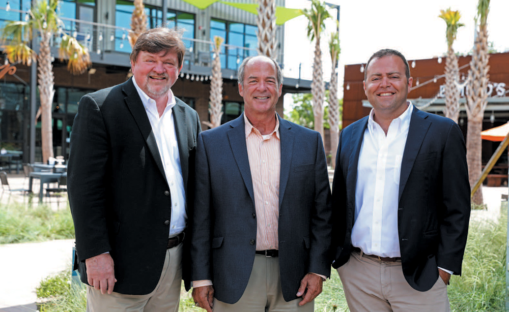 From left: Gene King, senior managing director; Terry Ansley, broker in charge; Justin Ross, sales associate