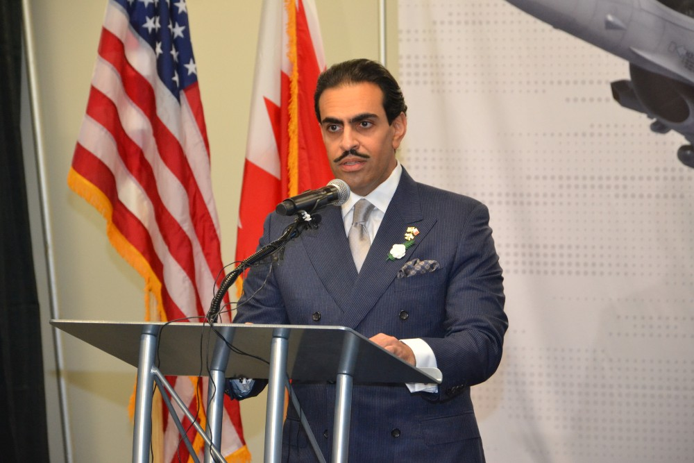 Shaikh Abdullah bin Rashed Al Khalifa, Bahrain's ambassador to the United States, talked about a long relationship with U.S. partners on Tuesday. (Photo/Ross Norton)