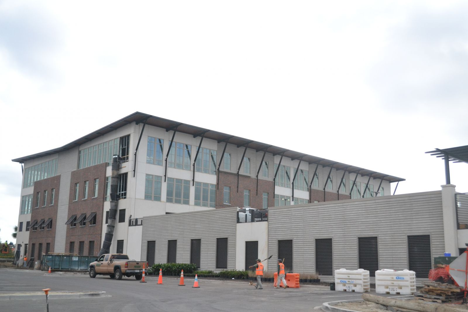 A new office building at 101 Coleman Blvd. in Mount Pleasant is nearing completion. The development, which overlooks Shem Creek, will have 41,700 square feet of Class A office space and a parking garage. (Photo/Liz Segrist)