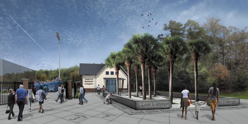 Charleston Southern University broke ground last week on the Singleton Baseball Complex. It is named in honor of Sharonda Coleman-Singleton, one of the Emanuel AME Church shooting victims and the mother of CSU baseball player Chris Singleton. (Rendering/Charleston Southern University)