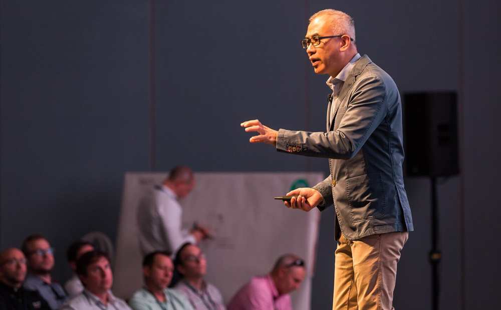 Soon Yu, a brand consultant and author, told his Dig South audience to innovate on their companies' existing strengths. (Photo/Adam Chandler)