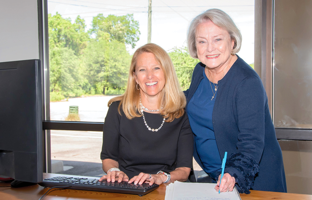 Mary Barrineau (left), and her mother, Pam Thompson, have helped staff Lowcountry businesses for the past 25 years.
