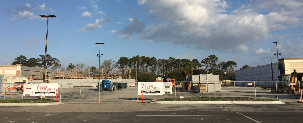 Harris Teeter is building a new store within the Westwood Plaza shopping center on Sam Rittenberg Boulevard in West Ashley. (Photo/Ryan Wilcox)