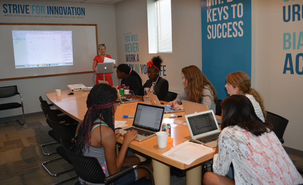 The Charleston Chamber has launched several workforce programs in recent years, including the All Girls Code Camp, which teaches high school girls about iOS app development. (Photo/Provided)