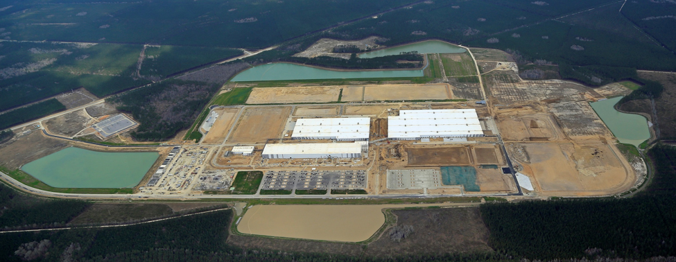 Volvo Cars' Berkeley County campus now has a paint shop, utility building, body shop and final assembly facilities, as well as several large stormwater ponds. (Photo/Provided by Jon Engle, Green Eyes Aero LLC)