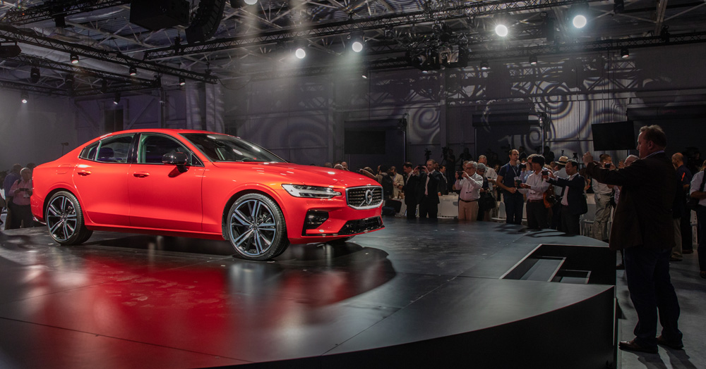 Volvo's new S60 sedan, currently being made outside of Ridgeville, was unveiled in June. The auto manufacturer said ongoing tariffs between the U.S. and China aren't likely to affect the S.C. plant, though cars made here will not be exported to China. (Photo/Kim McManus)