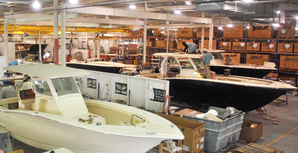 The growing manufacturing sector accounts for 12% of the state's workforce. Many of those jobs have recently been in aerospace, automotive and watercraft industries. Scout Boats' products are made in Summerville and sold globally. (Photo/Ryan Wilcox)
