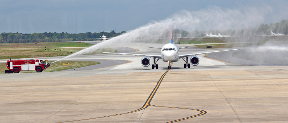 Allegiant launched service at Charleston International Airport this month with nonstop flights to Indianapolis, Pittsburgh and Cincinnati. (Photo/Charleston International Airport)