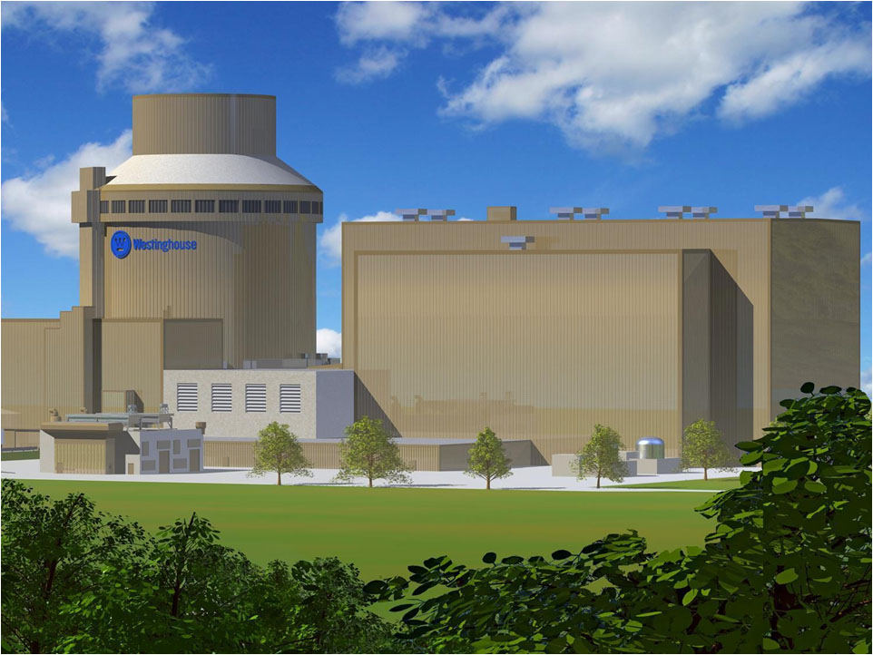 An artist renderibng of one of the Westinghouse Electric AP1000 reactor units that's under construction at V.C. Summer Nuclear Station in Fairfield County. (Image/Provided)