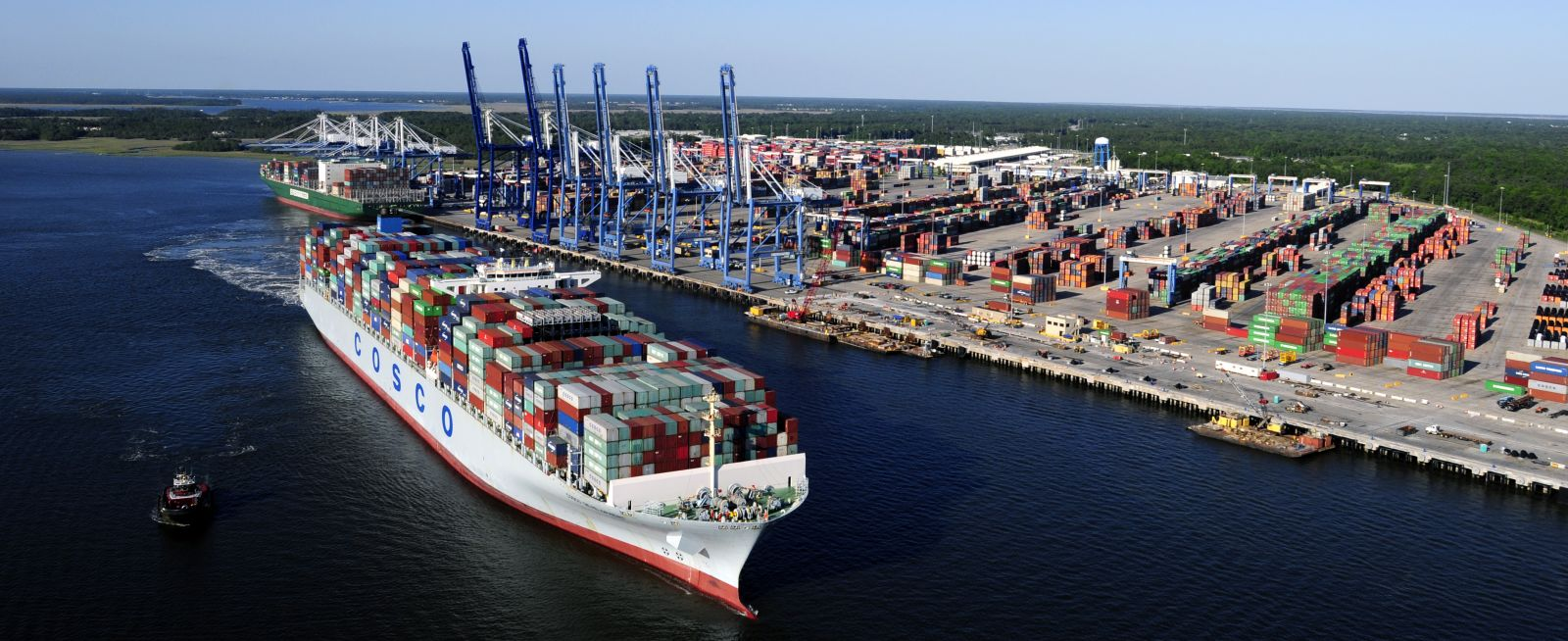 The Wando Welch Terminal recently underwent a massive renovation to its three berths. (Photo/S.C. Ports Authority)